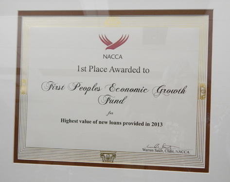 NACCA Awards 1st Place to FPEGF Inc.